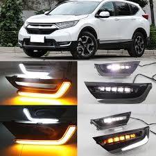 Drl Light Honda Crv Us 62 0 20 Off Cscsnl 2pcs For Honda Crv Cr V 2017 2018 12v Led Drl Daytime Running Lights With Turn Yellow Signal Fog Light Cover Car Styling In