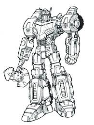 Transformer Coloring Pages Free Bumblebee Transformer Coloring Page