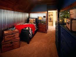 corrugated metal interior walls corrugated metal trim boosts this bedroom corrugated metal siding interior walls