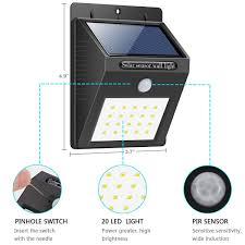 Solar Sensor Light Big W Solar Light 20 Led Bright Outdoor Security Lights With Motion Sensor Wireless Waterproof Night Lighting Solar Powered Spotlight For Wall Path Patio