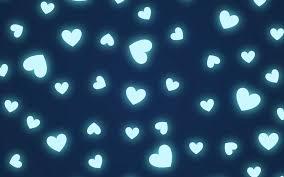 Blue Heart Pattern Wallpaper