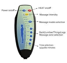 massage chair remote control. homcom pu leather massage chair w/heating/ vibrating/remote control-black | aosom.co.uk remote control
