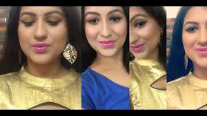 indian wedding guest makeup gold eyeshadow pink lips huge giveaway you