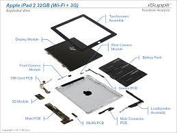 ipad  carries bill of materials of        ihs isuppli teardown    apple ipad    exloded view