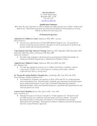 Impressive Nursing Internship Resume Tomyumtumweb Com