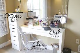 great ideas on how to put together your very own organized dream ikealex makeup desk table