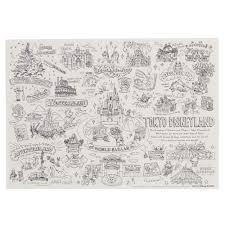 Amazon 手書き風パーク柄 塗り絵 ミッキー ミニー マウス ドナルド