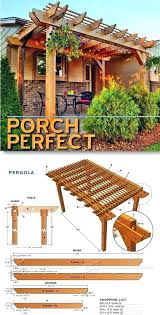 porch pergola plans outdoor and projects diy free standing