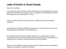 letter of eviction to tenant sample rental termination letter to tenant