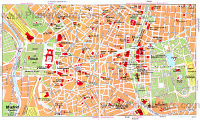 maps update  madrid spain tourist attractions map –