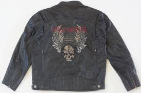 harley davidson men dungeon chain winged skull black leather jacket l 97179 10vm 1 of 12only 1 available