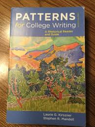 Patterns For College Writing Gorgeous ISBN 48 Patterns for College Writing A Rhetorical