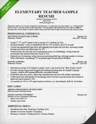 Sample Resume For Teaching Sample Resume For Teachers