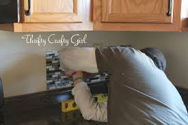 Sticky Tiles For Kitchen Floor Thrifty Crafty Girl Easy Kitchen Backsplash With Smart Tiles