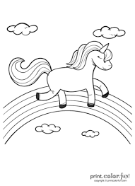 We have collected 37+ rainbow coloring page for kids images of various designs for you to color. Happy Unicorn Over The Rainbow Print Color Fun