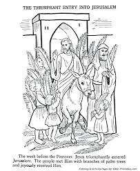 Palm Sunday Coloring Page Palm Coloring Page Bible Coloring Pages