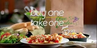 deals at olive garden. Olive Garden Buy One Take Deal Returns Deals At