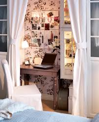 home office in bedroom. you can hide a tiny working area in bedroom home office