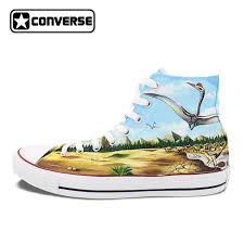 converse high tops womens. mens womens converse all star skateboarding shoes hand painted dinosaurs high top canvas sneakers waterproof painting tops