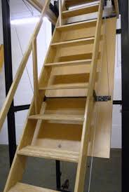 Folding Staircase Interior Engaging Picture Of Solid Oak Wood Folding Loft Ladder
