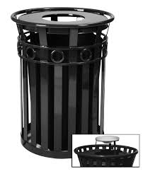 innovative decorative outdoor trash can 40 gallon oakley steel cans