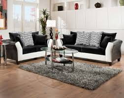 Black And White Couch, Pattern Pillows | ZigZag 2-Piece Sectional .