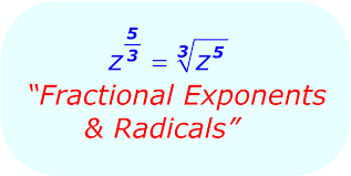 simplifying radicals fractional exponents roots