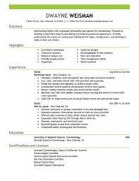 Cover Letter Resume For Hairdresser Unique Hair Stylist Resume