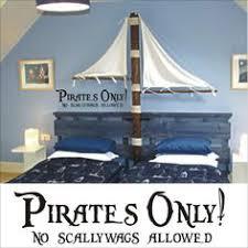 pirates only vinyl wall art decal sticker pirate decor kids room nursery 12 00