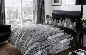 single bedroom medium size black and white single bedroom duvet city skyline bedding twin full queen