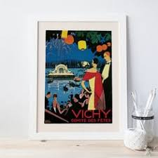 vichy france art deco poster giclee poster art deco print travel poster travel print high quality on wall art ikea poster with sevilla travel poster art deco travel poster spain poster wall