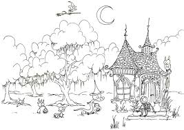 Small Picture Haunted House Coloring Book
