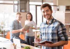 nice person office. Download Nice Man Standing In The Office. Stock Image - Of Cheerful, Person Office I