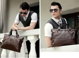 brown luxury briefcases mens 14 inch laptop bag briefcase