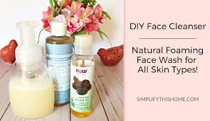 kick your old face cleanser to the curb and make your own diy face cleanser instead