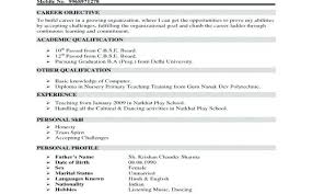 Sample Resume Objectives For Teaching College Student Career