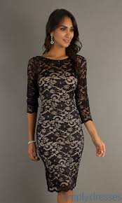 Knee Length Dress With Lace Overlay Ju Ma 270151 Now That S My