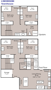 Attractive Design 3 Bedroom Townhouse  Bedroom Ideas4 Bedroom Townhouse Floor Plans