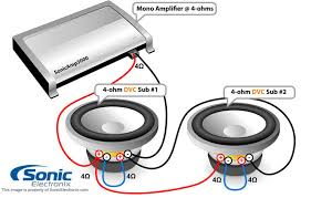 4 ohm wiring 4 auto wiring diagram ideas subwoofer wiring diagrams sonic electronix on 4 ohm wiring