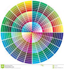 Vector Color Wheel Stock Vector Illustration Of Profile