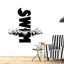 dorm wall decals swim design mural swimming sport vinyl wall decal sticker sports decor for boys