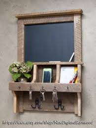 CHALKBOARD MAIL ORGANIZER, Mail Organizer, Magnetic Chalkboard, Apartment  Decor, Rustic Message Board, Mail and Key Rack, Mail Key Holder