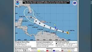 Tropical Storm Elsa to track through ...
