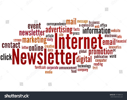 Newsletter In Word Internet Newsletter Word Cloud Concept On Stock Illustration