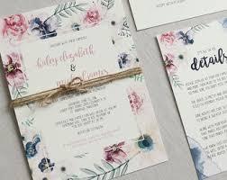 wedding invitations wedding stationery by loveofcreating on etsy Elegance Wedding Cards Sri Lanka elegant boho floral wedding invitation, rustic wedding invitation, modern wedding invitation, rustic, Sri Lankan Wedding Sarees