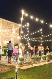 hanging lights outdoor amazing of party best ideas about lighting on outside string