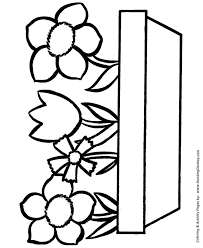 Easy Coloring Pages Free Printable Flowers In A Pot Easy Coloring