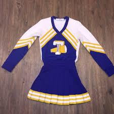 RLHS Cheerleader Uniform Dress Gold Navy Pantherettes Ladies L.