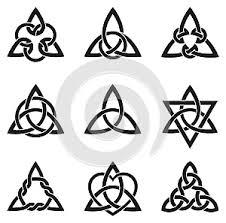 Ilustrace52008631 Devět Keltský Trojúhelník Uzlů Autor