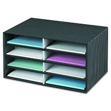 office door mail holder. Amazon.com : Bankers Box Decorative Eight Compartment Literature Sorter, Letter, Black/Gray Pinstripe (6170301) Office Products Door Mail Holder G